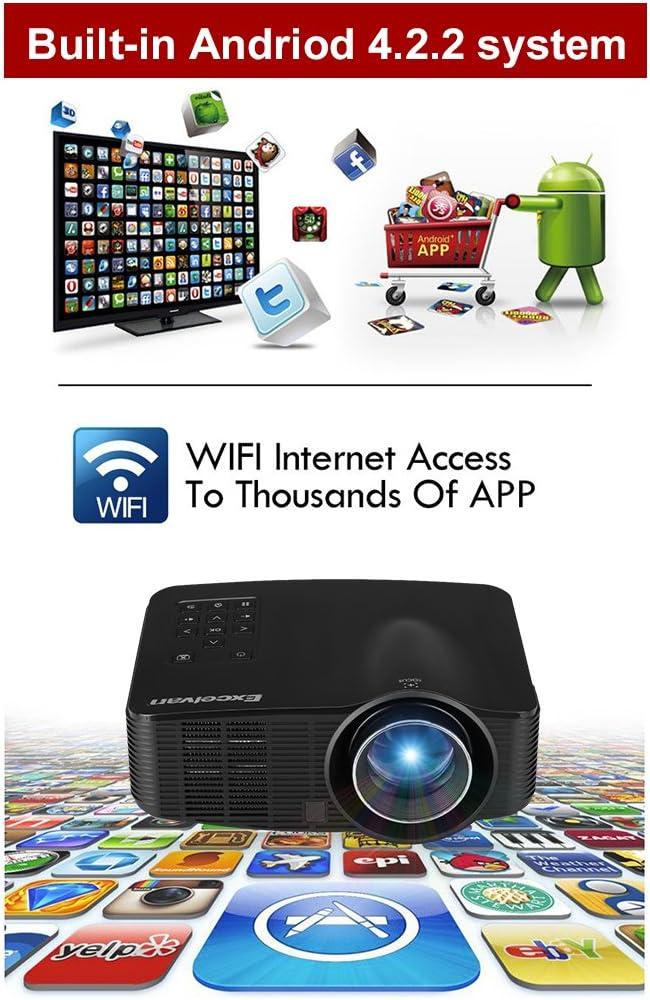 Excelvan LED 3018 - Mini Portátil Wifi Proyector LED (Android y ...