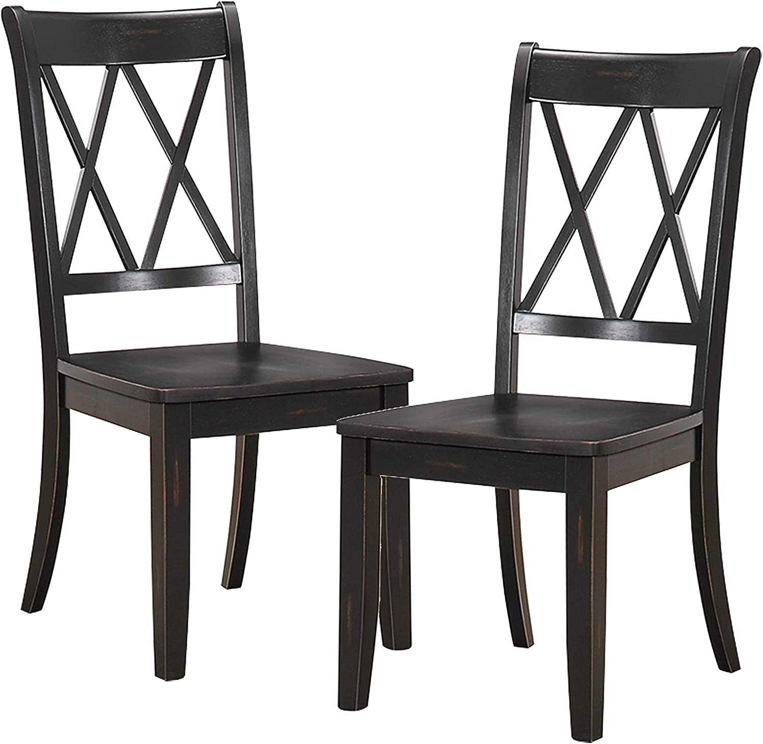 Homelegance Dining Chair (Set of 2), Black