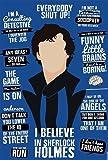 Alter Ego I Believe In Sherlock Holmes Poster(Multicolor)