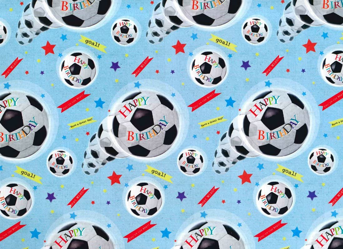 Simon Elvin   FOOTBALL WRAPPING PAPER   30 SHEETS OF GIFT WRAP & 30 TAG    SE305630