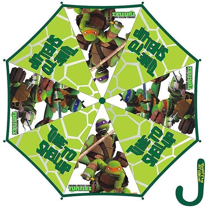 Paraguas transparente para niño Tortugas Ninja Verde: Amazon ...