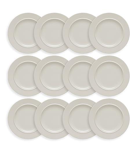 Alessi La Bella Tavola juego de 12 platos de postre – 21 cm