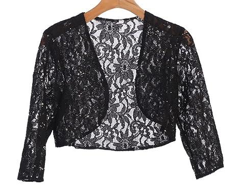 f96d9b4ee9e Angel s 3 4 Sleeve Lace Bolero Bridal Jacket Bodice Fully Lined Shrug  Jacket NWT (