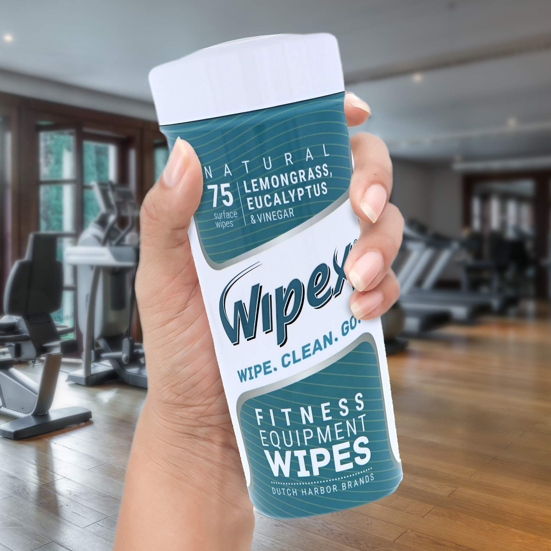 Peloton Citronella Spa Home Gym 75 Wipes Eucalipto e Aceto Ideali per Yoga Mats Pilates Wipex Salviette Natural Gym /& Fitness