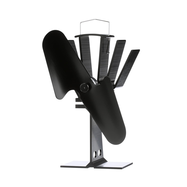 ECOFAN 800CAXBX Original Small Heat Powered Wood Stove Fan, Made in Canada, Black Caframo