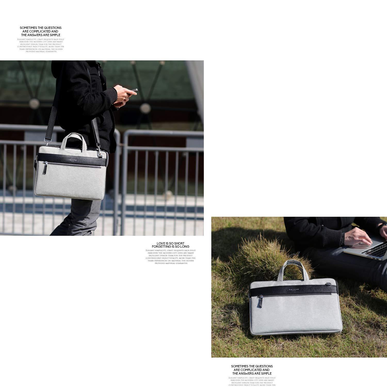 Bolso de mano Cartinoe Fashion para mujer bolso de hombro para computadora port/átil de cuero de 12 a 13 pulgadas azul bolso grande para hombre con bolsos cruzados para MacBook Air Pro 13