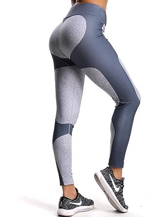 05d8235f5ee34 FITTOO Women's Heart Shape Yoga Pants Sport Pants Workout Leggings Sexy High  Waist Trousers - Grey - XL: Amazon.co.uk: Clothing