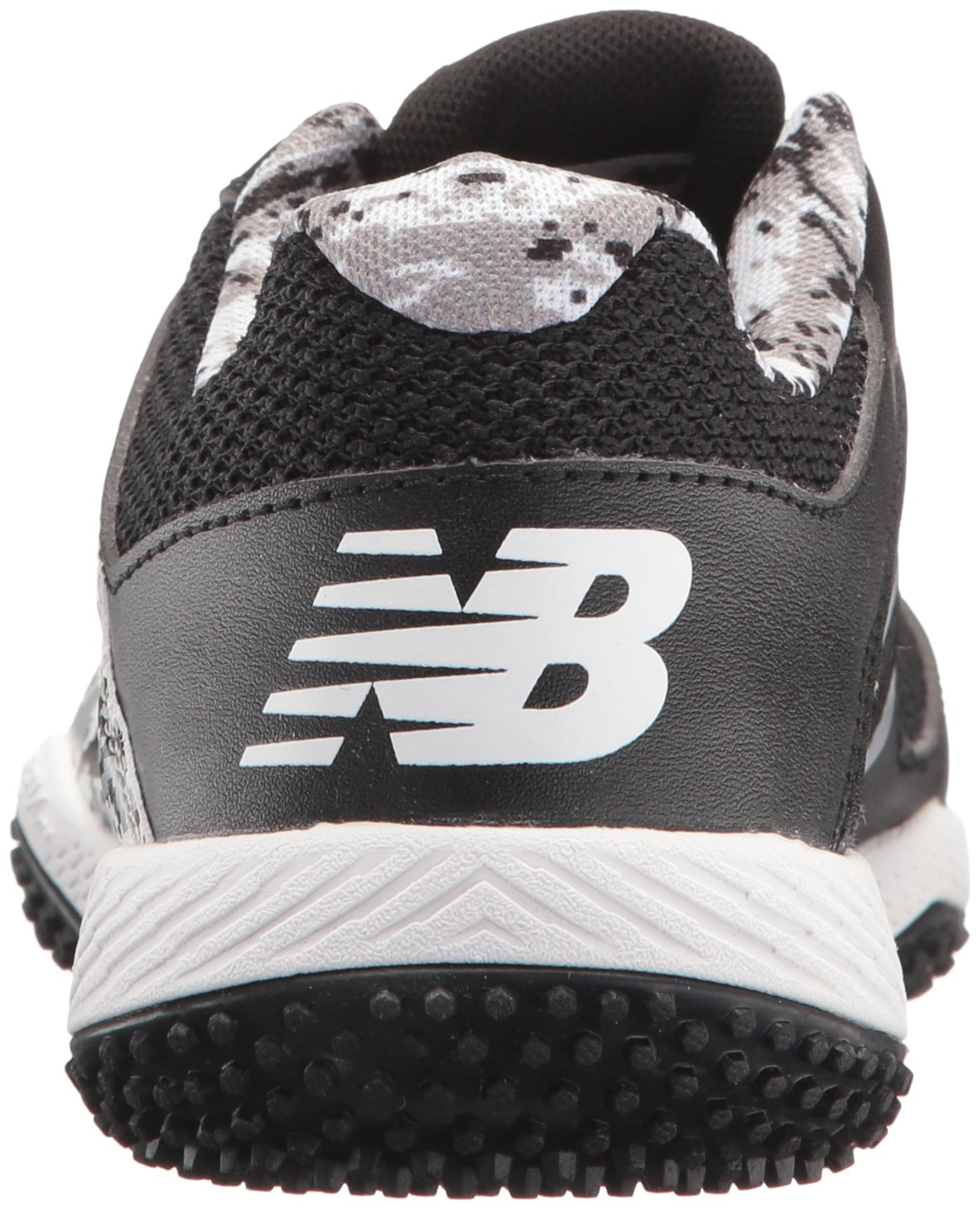 New Balance Boys' TY4040 Turf Baseball Shoe, Black/White, 6 M US Big Kid by New Balance (Image #2)