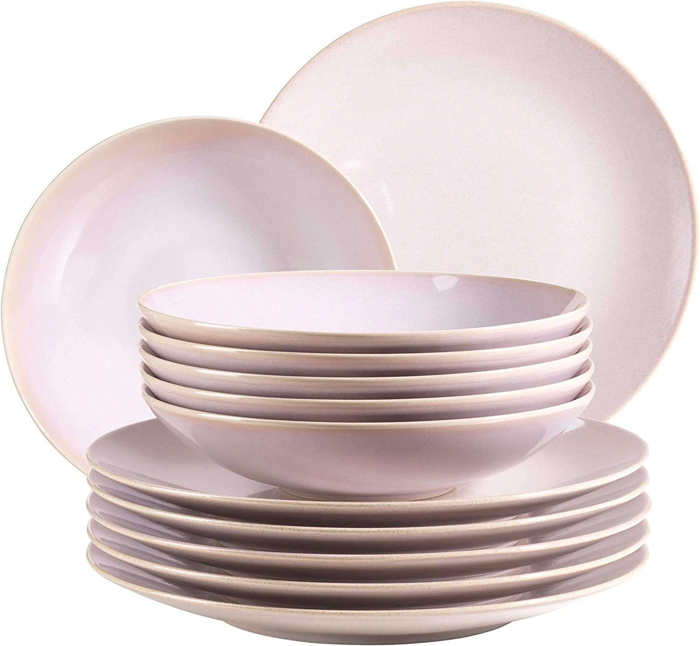 Domestic by M/äser Servizio da tavolo da 12 pezzi per 6 Persone Serie Chanson