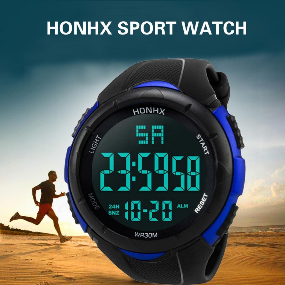 Amazon.com: LtrottedJ Luxury Men Analog Digital Military Army Sport LED Waterproof Wrist Watch (Blue): Health & Personal Care