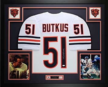 buy popular a26a4 6b605 Dick Butkus Autographed White Bears Jersey - Beautifully ...
