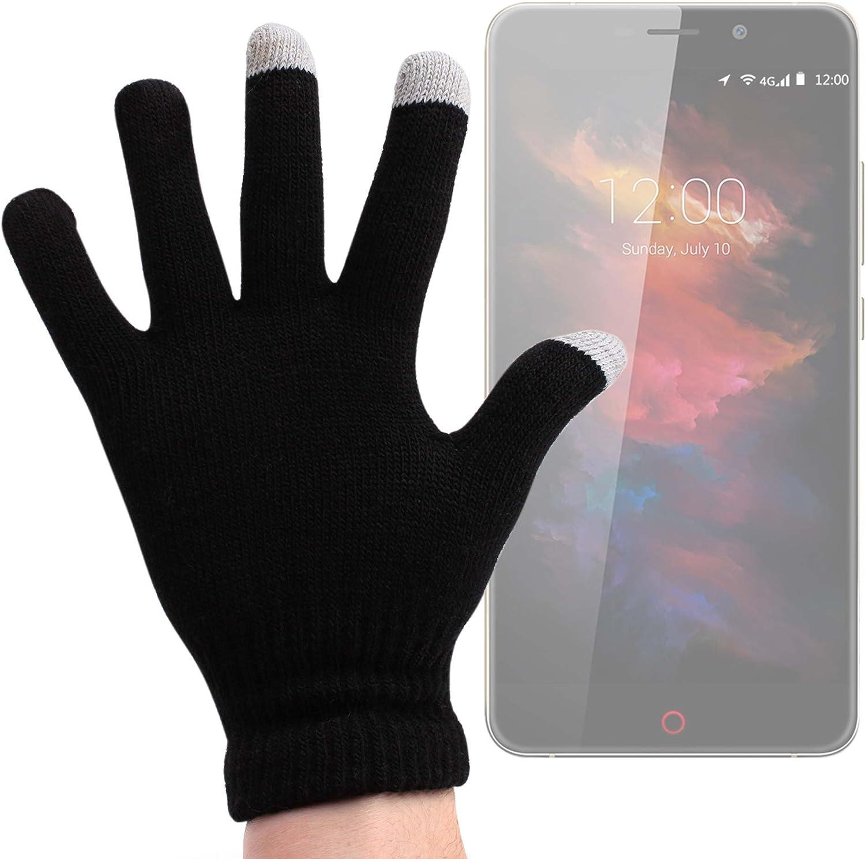 DURAGADGET Guantes Negros para Pantalla Táctil para Smartphone UMI MAX | Touch | Super | Motorola Moto X Play | ZTE Axon Mini | Blackberry Priv: Amazon.es: Electrónica
