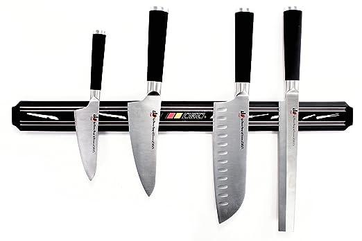 FranquiHOgar Barra magnética 55 cm - Imán de Pared para Cuchillos y Tijeras