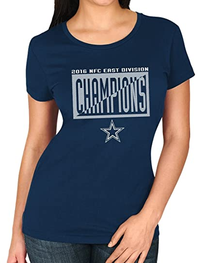 073c5460 Dallas Cowboys Majestic NFL Women's 2016 NFC East Division Champions S/S T- Shirt