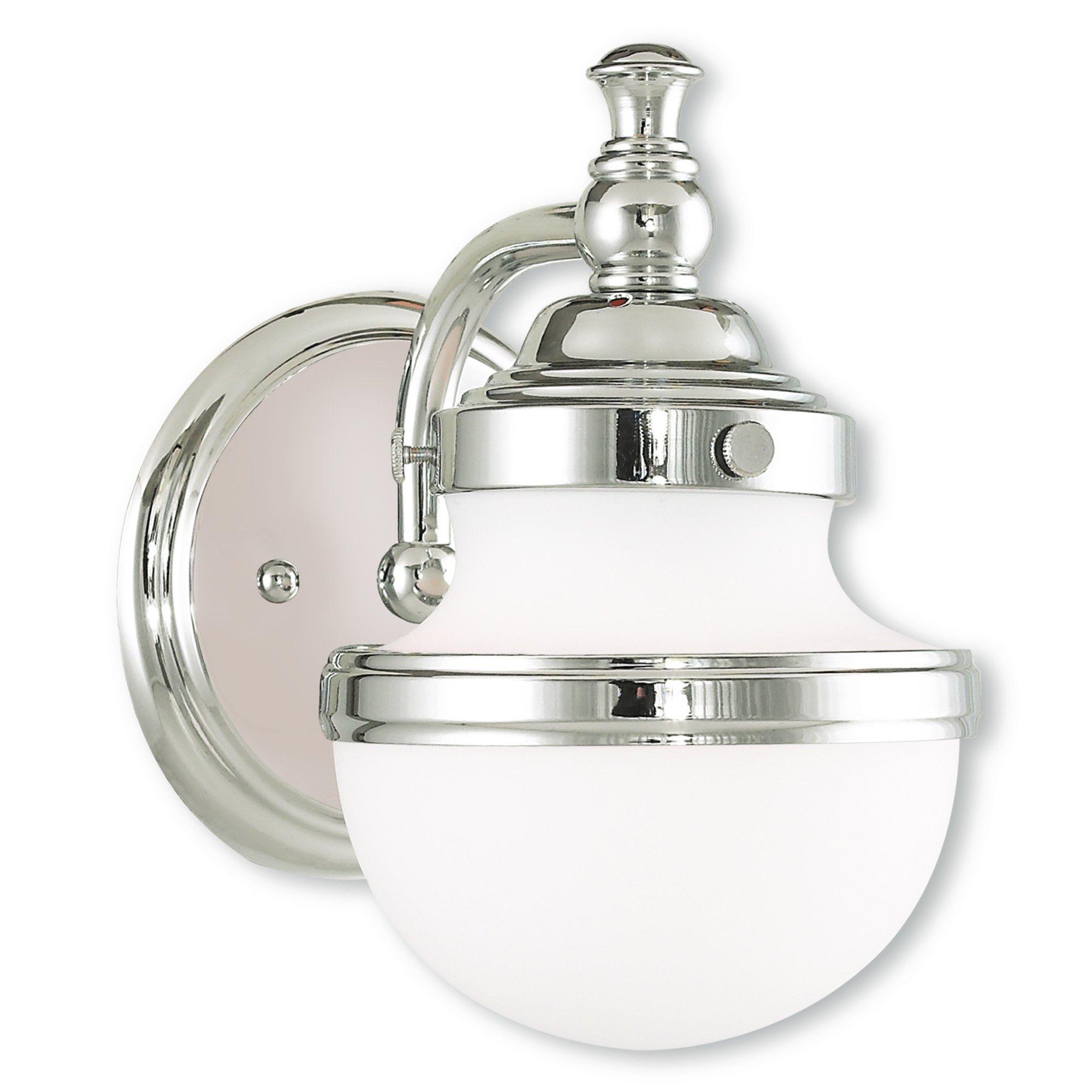 Livex Lighting 5711-05 Oldwick 1 Bath Light, Polished Chrome