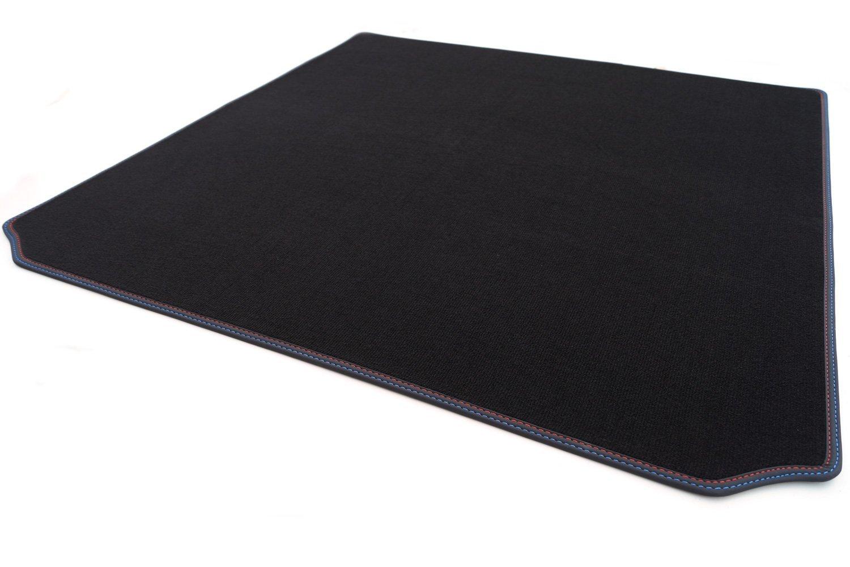 KH Pi/èces Tapis de coffre//Tapis de voiture en velours haute qualit/é pour plastique noir bordure cuir nubuck double couture rouge//bleu m Tapis de Edition