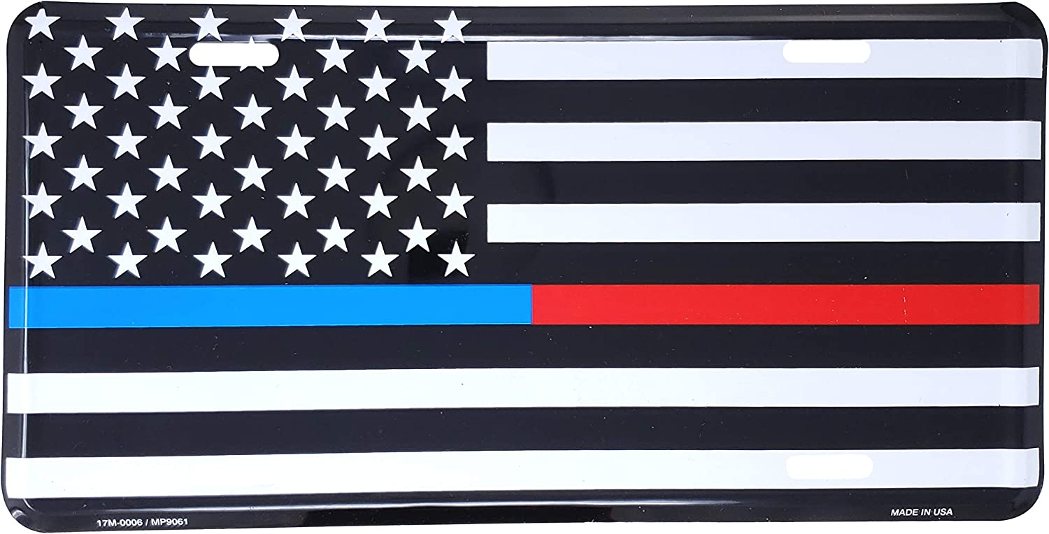 2 X THIN BLUE RED WHITE LINE POLICE FIREFIGHTER EMT MILITARY ARIZONA STATE FLAG