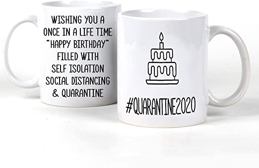 Fahets Testsurant Christmas Party 2020 Amazon.com: Perfectostore Birthday Quarantine Mugs 2020   Mugs for