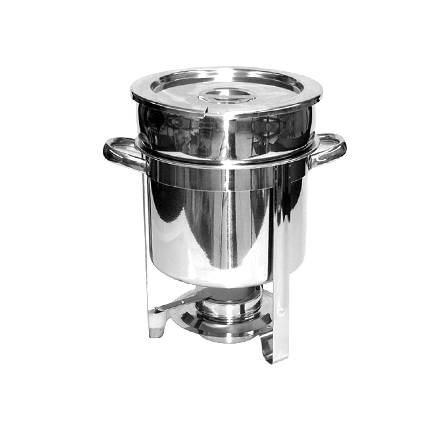 Excellante Stainless Steel 7-Quart Marmite Chafer Thunder Group SLRCF8307