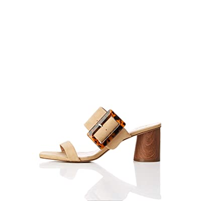 Amazon Brand - find. Women's Large Buckle Block Heel Sandal: Shoes