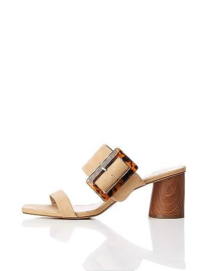 Sandal Amazon Con Heel Sandalias FindLarge Buckle Marca Block PkO80nwX