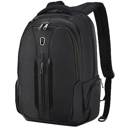 Slotra Laptop Backpack Business 15.6 Zoll Reisen Outdoor Schulerucksack Mordern Rucksack Für Büro Unisex Schwarz Studenten Ar