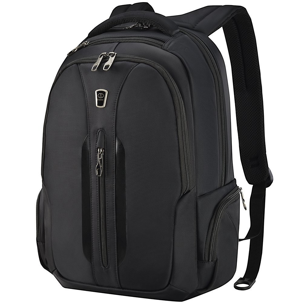 Travel Laptop Backpack 15.6 Inch Anti-Theft Water Resistant Removable USB Charging Port Computer Bag for Men Women Black by SLOTRA