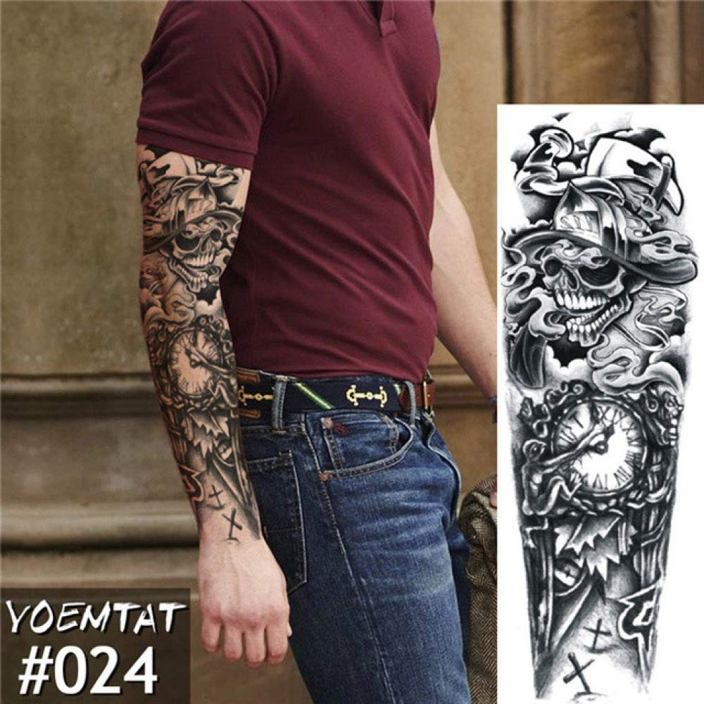 Etiqueta engomada impermeable del tatuaje del guerrero del tatuaje ...