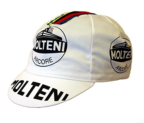 Gorra para ciclismo y para correr, diseño retro Molteni: Amazon.es ...