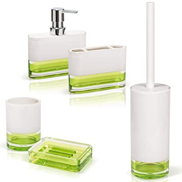 Tatkraft Topaz Green Bathroom Accessories Set Of Soap Dish