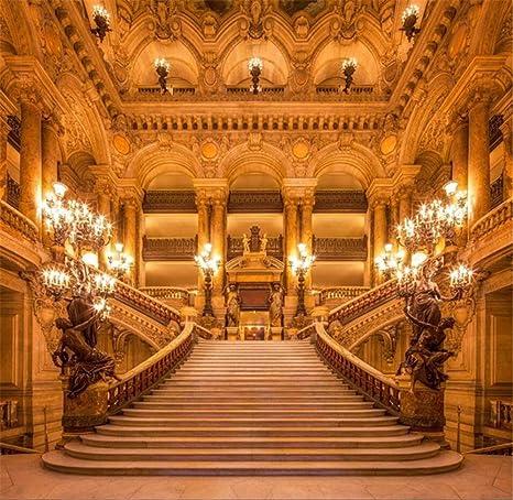10 x 10FT Vintage castillo Stairway Photo Booth telón de fondo interior escalera vela luz interior princesa fotografía fondo hadas boda pancarta decorativa para fiesta: Amazon.es: Electrónica