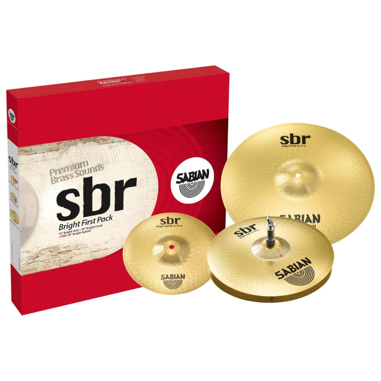 Sabian Cymbal Set SBR Bright First Pack 13'' Bright Hi hats, 16'' Bright Crash and free 10'' Bright Splash SBR5001BR2