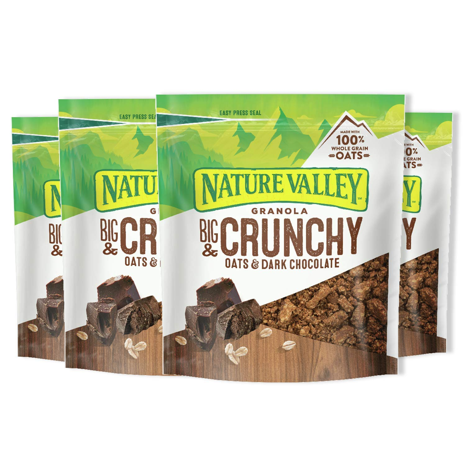 Nature Valley Granola, Crunchy Oats and Dark Chocolate, 16 oz, 4 Count