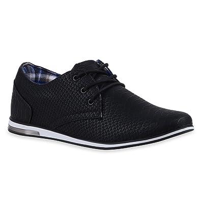 Herren Sneaker Low Basic Turnschuhe Schn rer Freizeit 822476 Schuhe