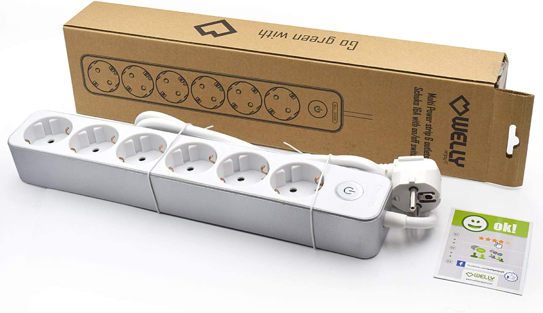 Regleta de alimentaci/ón 6 posiciones Schuko 16A con interruptor de encendido//apagado Welly EnjoyIT WY13166