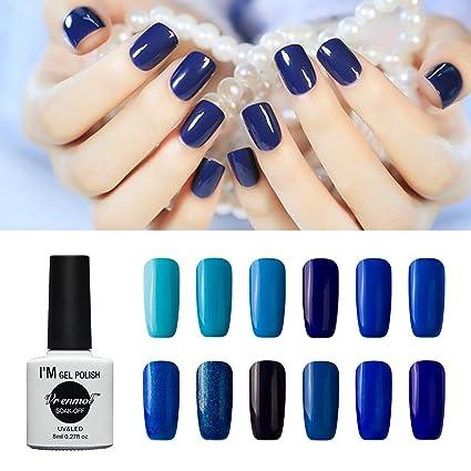 Vrenmol - Juego de 12 esmaltes de uñas de gel con luz UV LED para manicura
