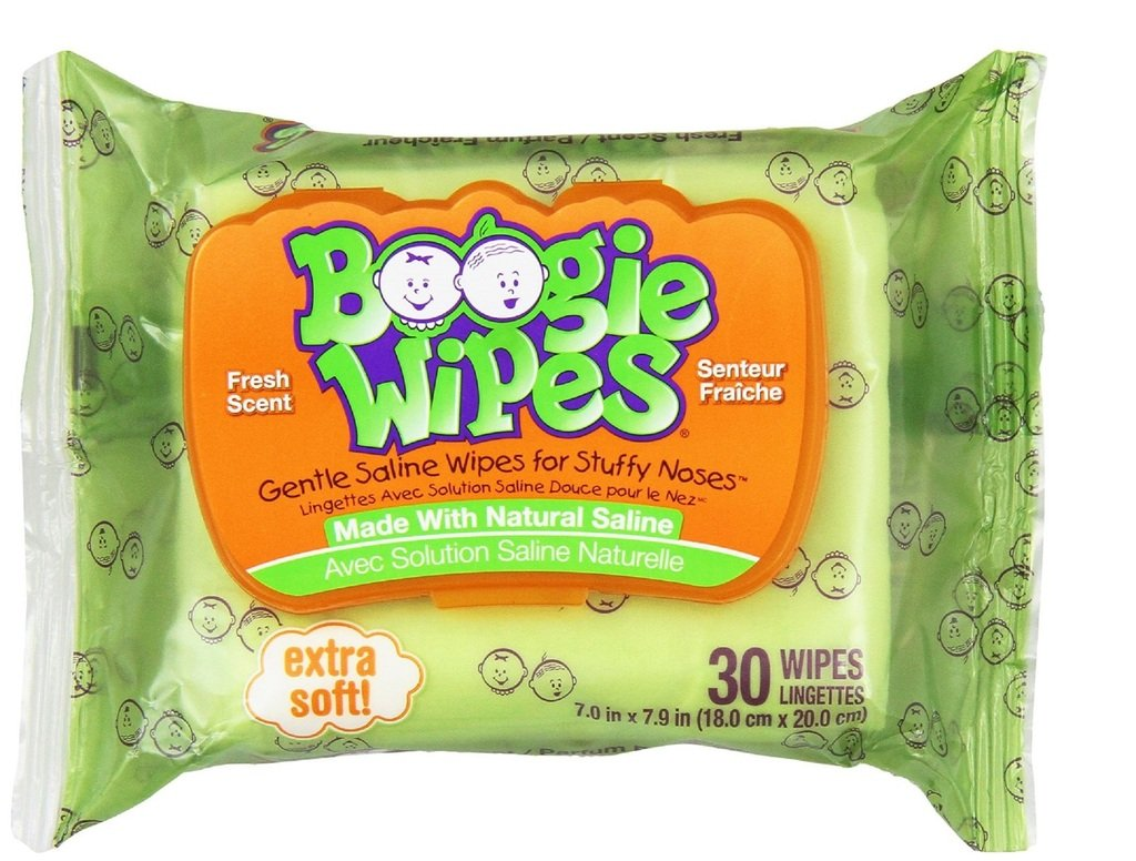 (Pack of 29) Boogies Wipes Grape Scent. Hypoallergenic Natural Saline Baby Wipes for Runny Noses. Vitamin-E & Aloe to Moisturize on Contact. DISSLOVES Dry Mucus. (29 Packages, 30 Wipes in Each)