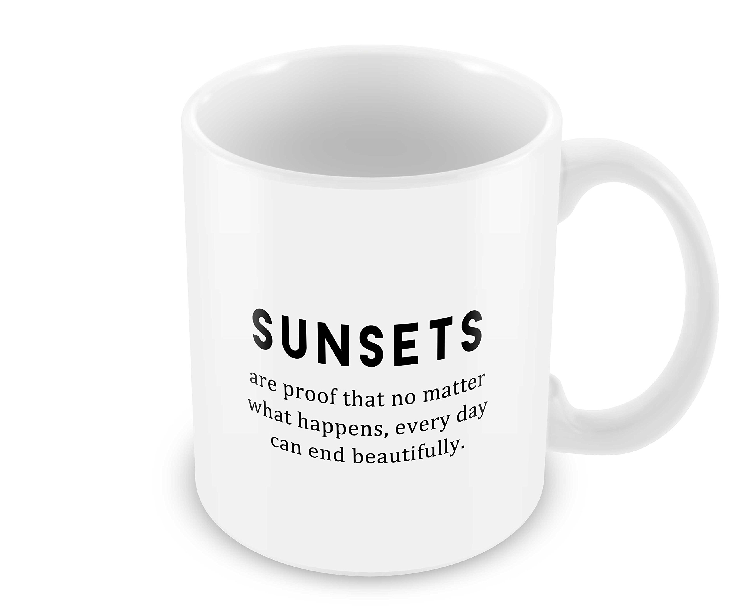Geek Details Sunsets Are Proof That No Matter What Happens, Every Day Can End Beautifully Coffee Mug, 11 Oz, White
