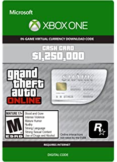 Grand Theft Auto V Great White Shark Cash Card Xbox One Digital Code