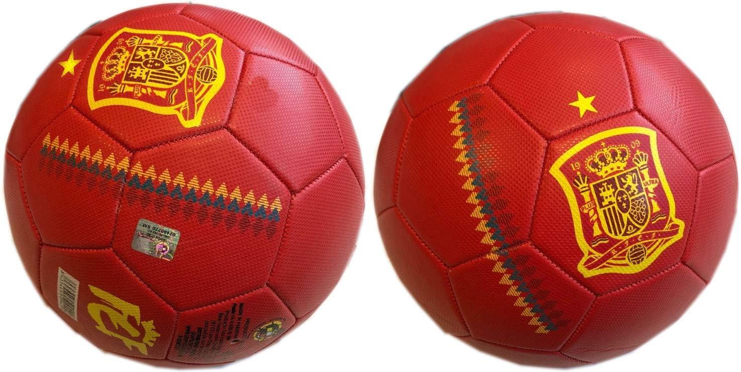 FEF Balón Selección Española de fútbol Grande Talla 5: Amazon.es: Deportes y aire libre
