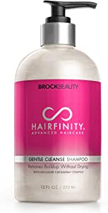 Hairfinity Gentle Cleanse Biotin Shampoo - Silicone & Sulfate Free Growth Formula - Best for Damaged, Dry, Curly or Frizzy Hair - Thickening for Thin Hair, Safe for Keratin and Color Treated Hair 12oz