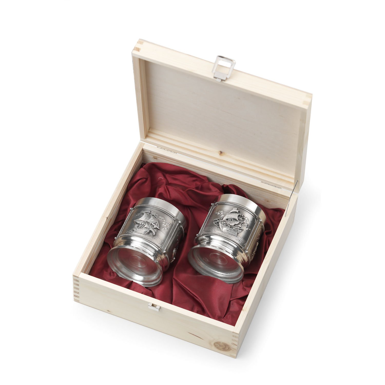Artina 10512 2 Whiskybecher La Paloma in Holzkassette