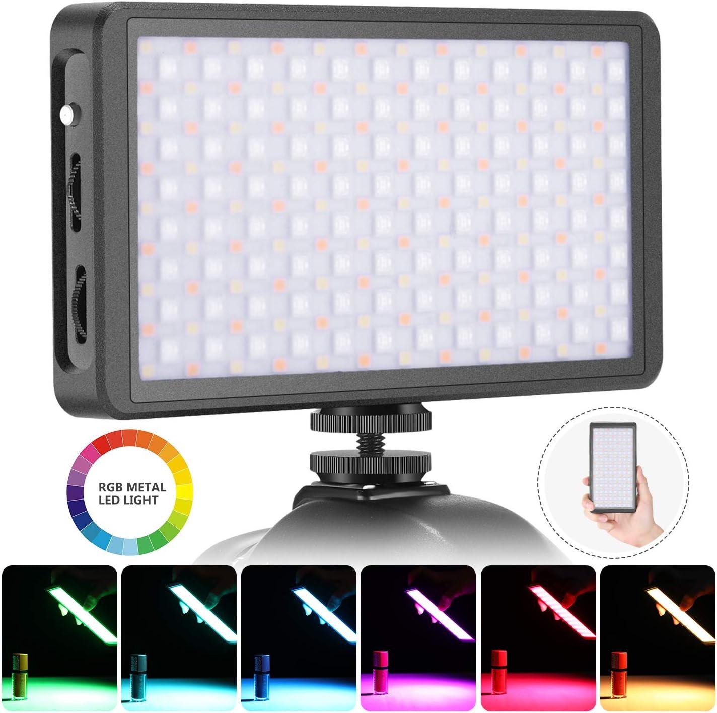 Neewer Luz LED RGB F7 para Videocámara Luz Video de Bolsillo ...