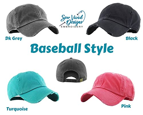 Custom Embroidered Hat Gigi Gifts Distressed Baseball Cap OR Ponytail Hat Personalize it! Gigi w//Heart Hat