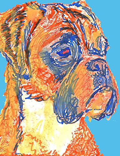 Amazon.com: Colorful Boxer Dog Wall Art, Gift For Boxer Dog Owner ...