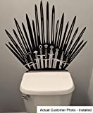 Game of Throne Parody Inspired Toilet Decal Iron Throne Toilet Decal Sticker- Iron Throne Behind Toilet On Bathroom Wall