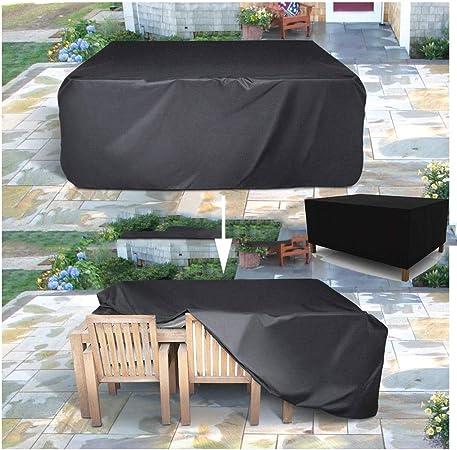 Funda Protectora para Mesa de Jardín 210D Oxford Tela Fundas Protectoras Muebles Jardin Impermeable/A Prueba de Viento/Anti UV Fundas para Sofás, Rectangular/Cuadrado (Size : 200x140x90cm): Amazon.es: Hogar