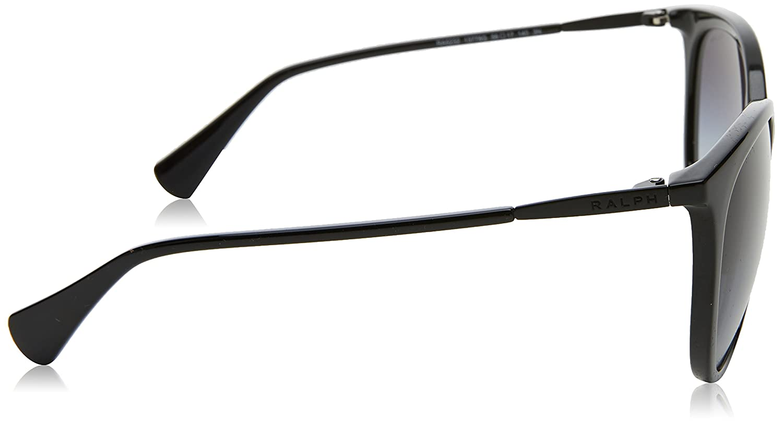 fd568234e0 Amazon.com  Ralph by Ralph Lauren Women s 0ra5232 Cateye Sunglasses BLACK  56.0 mm  Clothing