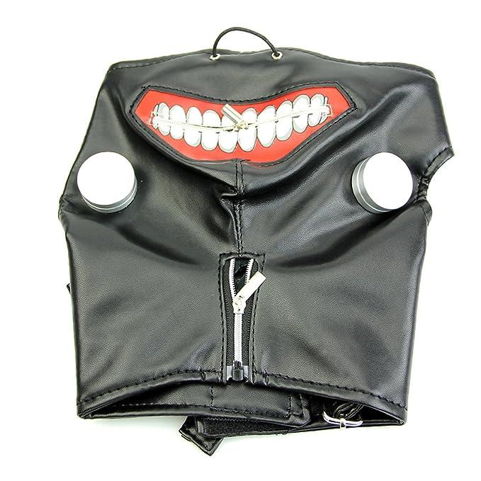 Máscara de Piel de Kaneki Ken Tokyo Ghoul Ajustable con Cremallera sintética para Cosplay, Halloween, Color Negro: Amazon.es: Hogar