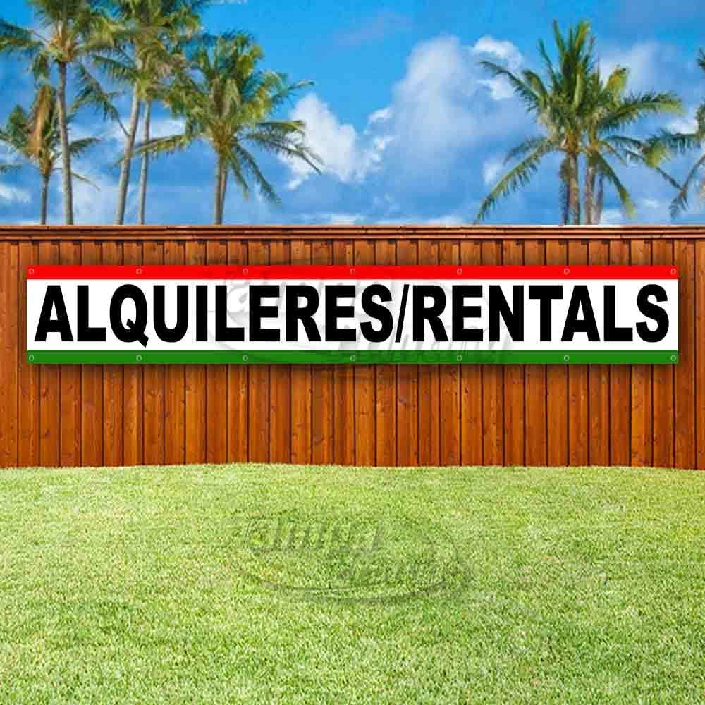 Flag, Store New Advertising Many Sizes Available ALQUILERES//RENTALS Extra Large 13 oz Heavy Duty Vinyl Banner Sign with Metal Grommets